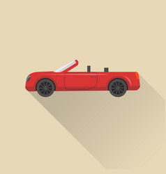 flat style cabriolet car icon vector image vector image
