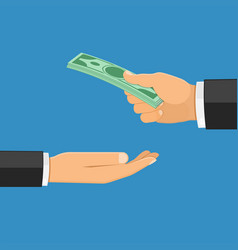 hand with money vector image