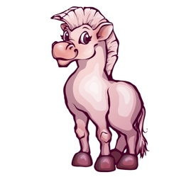 horse in cartoon style vector image