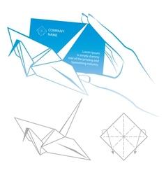 Origami symbolic vector image vector image