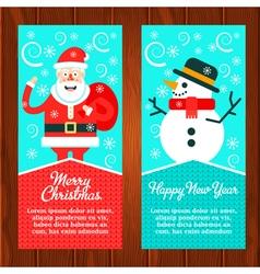 Santa Snowman Banners vector image vector image