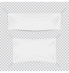White textile banners with folds template set vector image vector image