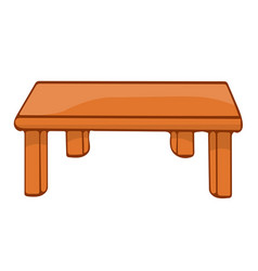 wooden table isolated vector image vector image