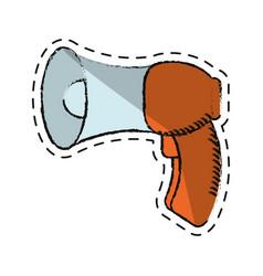 cartoon megaphone loudspeaker sound marketing vector image