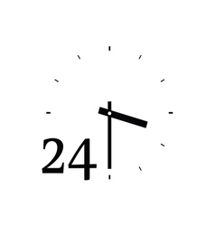 clock cute black vector image vector image