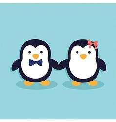 Cute Penguin Couple vector image
