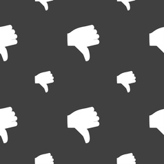 Dislike Thumb down icon sign Seamless pattern on a vector image