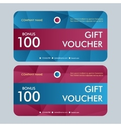 Gift voucher template with modern pattern vector image vector image