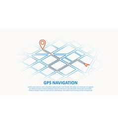 gps navigation thin line design vector image