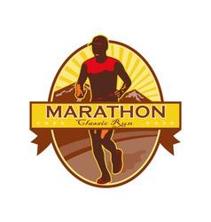 Marathon classic run retro vector