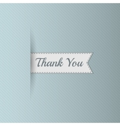 Realistic Ribbon with Thank You Text vector image vector image