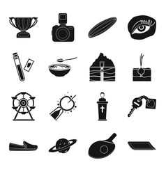 sports gynecology park farm and other web icon vector image
