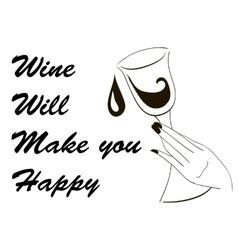 winw wil make you happy vector image