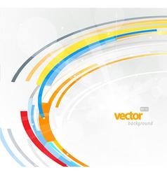 Abstract futuristic orange 3D circle vector image vector image