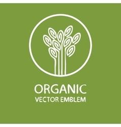 abstract organic emblem vector image