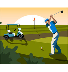 Banners image of sports equipment for golf vector