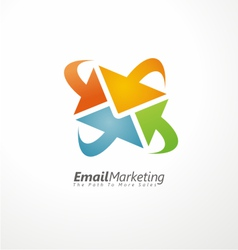 Email marketing creative design concept vector image