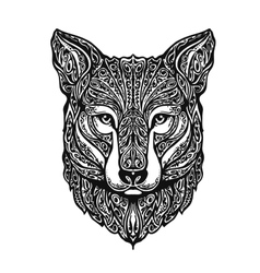 Ethnic ornamented fox or dog vector image