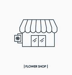 flower shop icon vector image vector image