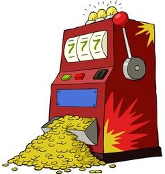 gambling machine vector image vector image