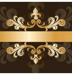 Royal classic ornament invitation vector