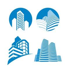 skyscrapers sign vector image vector image