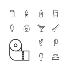 13 soft icons vector image