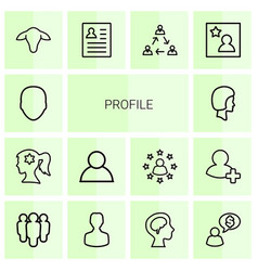 14 profile icons vector