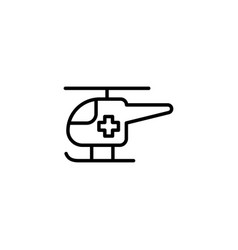 Ambulance helicopter icon on white background vector