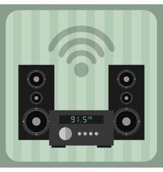 Appliance retro icon vector