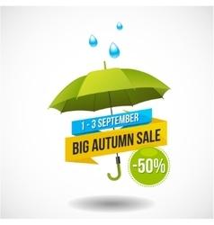 Autumn Sale Discount Logo or Emblem vector image
