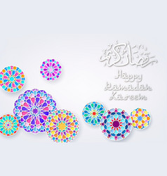 Background with arabic colorful patterns vector