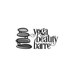 balance stone logo design vector image