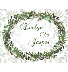beautiful leafy frame wreath of eucalyptus vector image