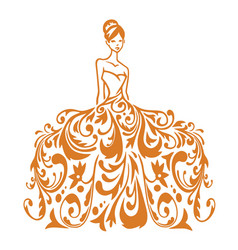 Beauty bridal wear boutique wedding gown logo vector