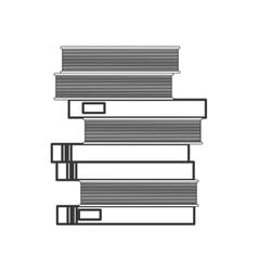 Book pile icon vector