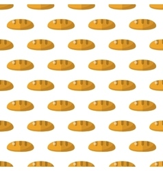 Bread pattern seamless vector image