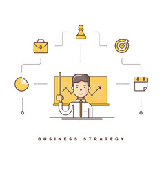 Business strategy cartoon character giving vector