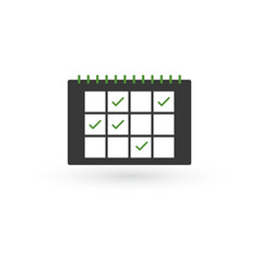 calendar icon schedule concept with checkmarks vector image
