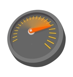 Car speedometer or tachometer icon cartoon style vector image