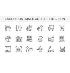 cargo container icon vector image