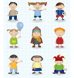 cartoon children vector image