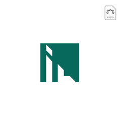 Chart logo icon abstract design element isolated vector