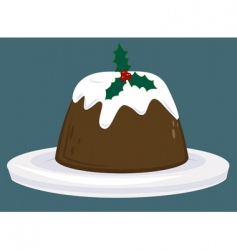 Christmas pudding vector