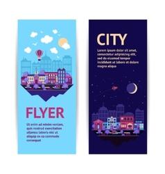 City banner vertical vector image vector image