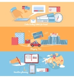 Concept planning and organization travel vector