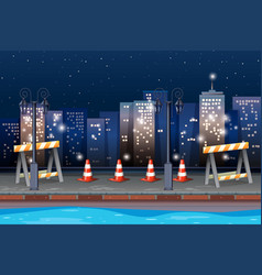 construction road in the city vector image