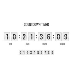 countdown clock counter timer clocks counts day vector image