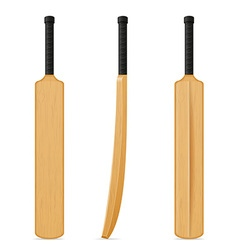 Cricket bat 07 vector