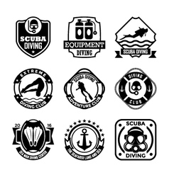 Diving Badges vector image